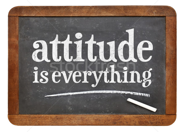attitude is everything blackboard sign Stock photo © PixelsAway