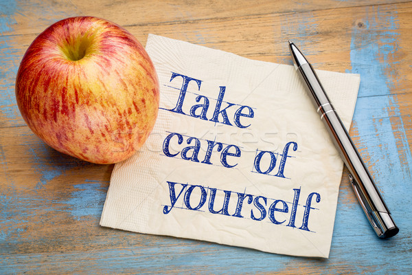 Take care of yourself advice Stock photo © PixelsAway