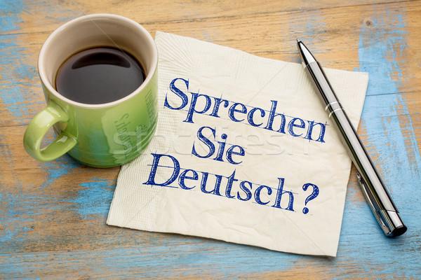 Sprechen Sie Deutsch? Stock photo © PixelsAway