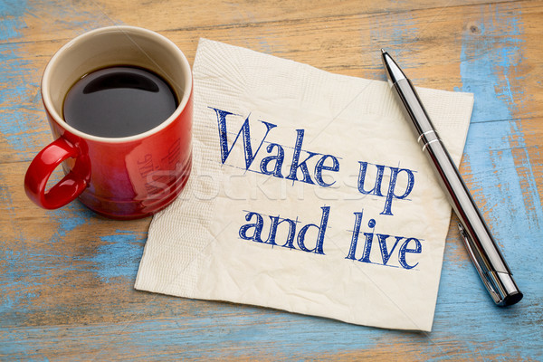 Wake up and live Stock photo © PixelsAway