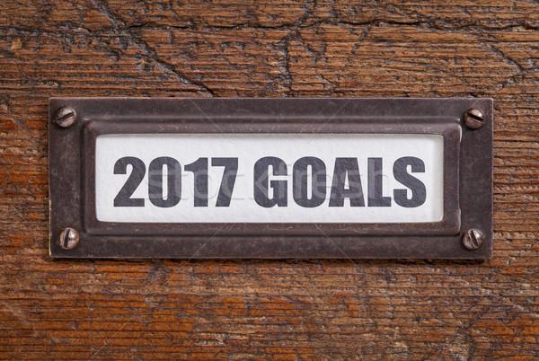 2017 goals - file cabinet label Stock photo © PixelsAway