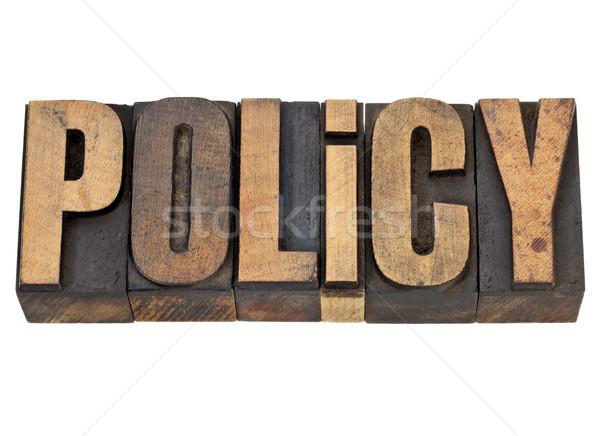 policy word in letterpress type Stock photo © PixelsAway