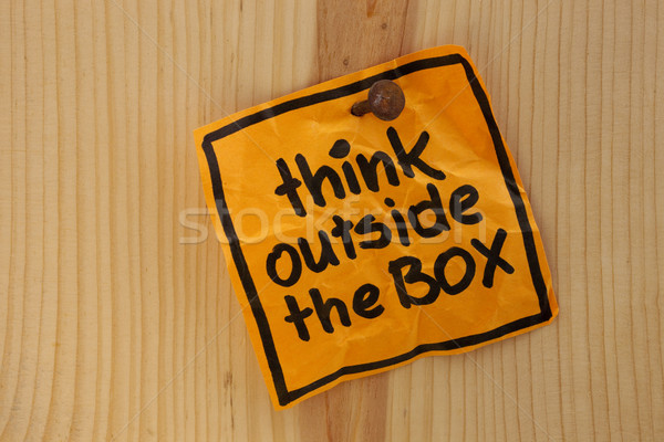 think outside the box reminder Stock photo © PixelsAway