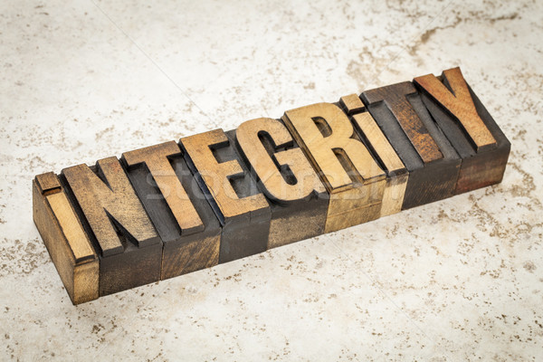 integrity word in wood type Stock photo © PixelsAway