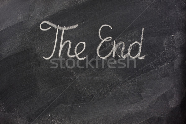 The end on blackboard Stock photo © PixelsAway