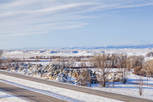 Colorado freeway at winter Stock photo © PixelsAway