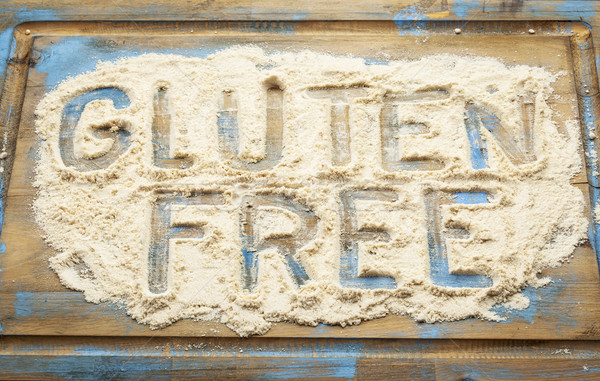 gluten free words in flour Stock photo © PixelsAway