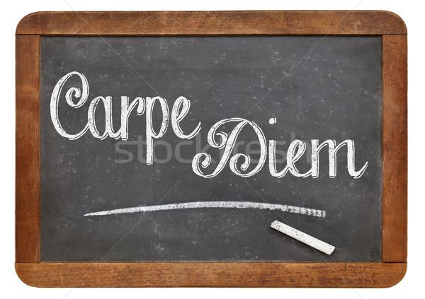 Carpe Diem on blackboard Stock photo © PixelsAway