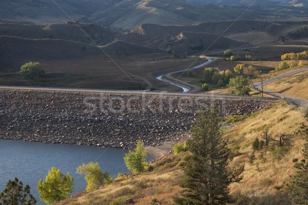 Rocha montanha reservatório Colorado montanhas forte Foto stock © PixelsAway