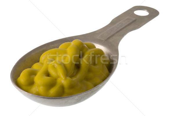 Mustár alumínium mér citromsárga izolált fehér Stock fotó © PixelsAway
