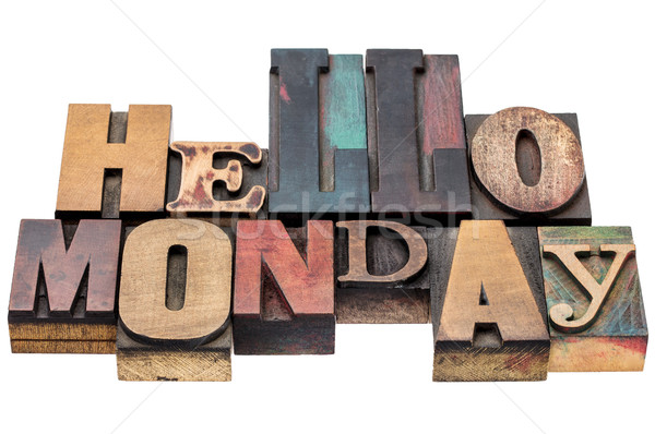 Hello Monday typography abstract Stock photo © PixelsAway