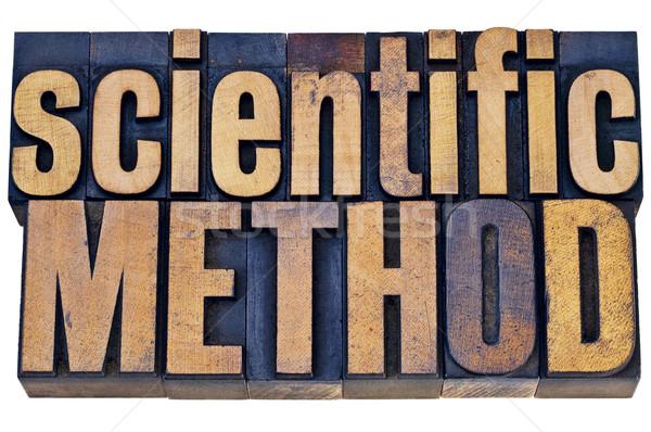 Científico tipografia método ciência pesquisa isolado Foto stock © PixelsAway