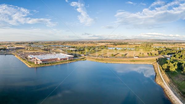 Antenne panorama noordelijk Colorado snelweg Stockfoto © PixelsAway