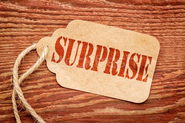 Verrassing woord prijs tag Rood stencil Stockfoto © PixelsAway