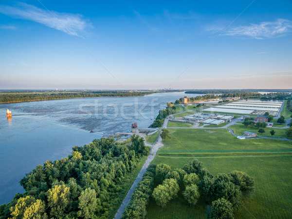 MIssissippi River aerial view  Stock photo © PixelsAway