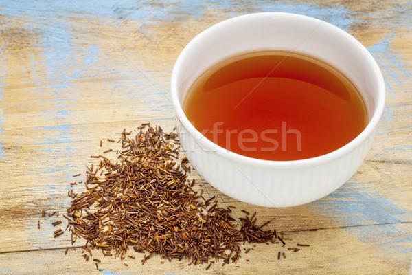 Czerwony herbaty biały kubek gorący napój luźny Zdjęcia stock © PixelsAway