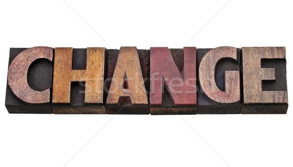 Cambiare parola tipo isolato vintage Foto d'archivio © PixelsAway