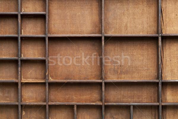 wooden box with bins Stock photo © PixelsAway