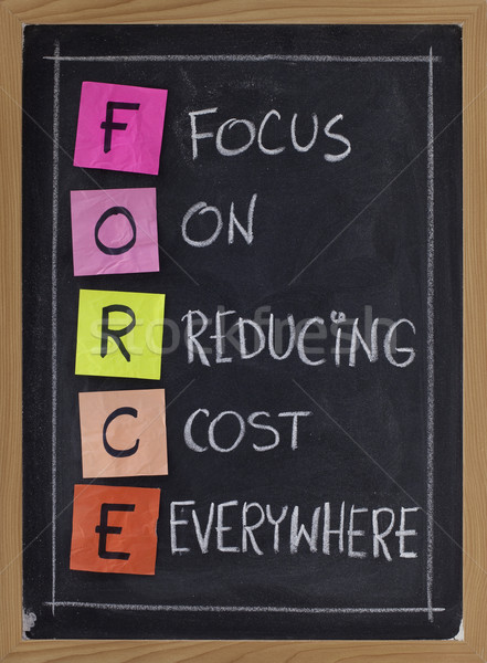 focus on reducing cost everywhere Stock photo © PixelsAway