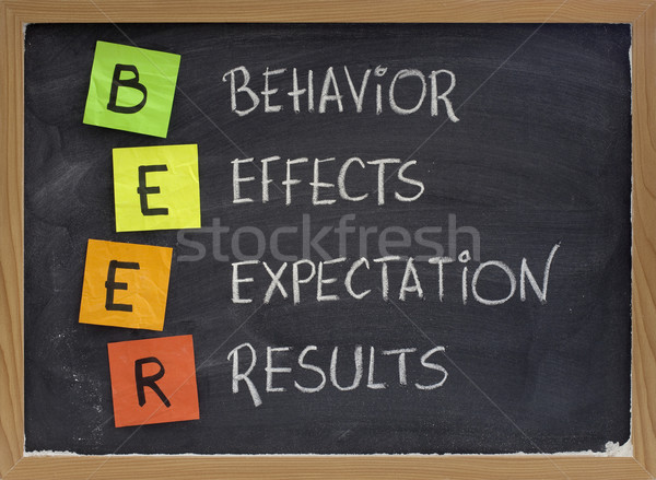 behavior, effects, expectation, results Stock photo © PixelsAway