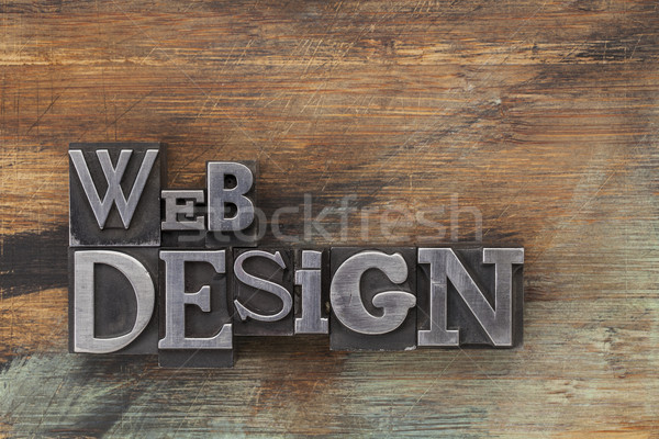 Web design métal type blocs texte vintage Photo stock © PixelsAway