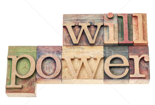 Força de vontade madeira tipo palavra isolado texto Foto stock © PixelsAway