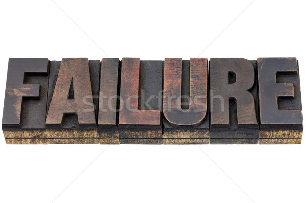 failure word in wood type Stock photo © PixelsAway