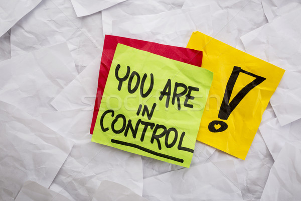 you are in control reminder Stock photo © PixelsAway