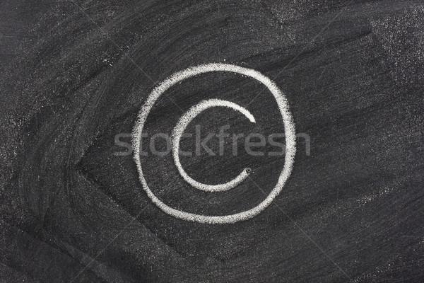 Derechos de autor símbolo pizarra blanco tiza textura Foto stock © PixelsAway