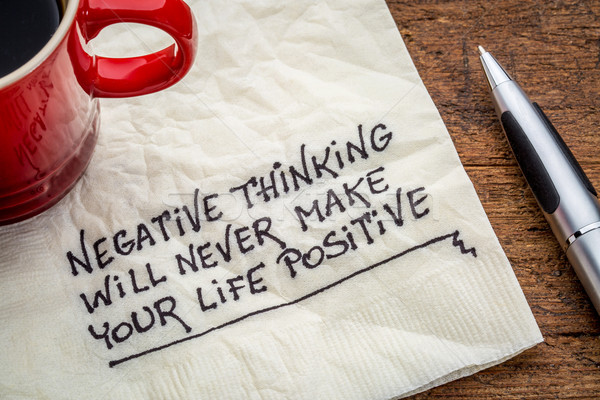 Negatieve denken leven nooit positief Stockfoto © PixelsAway