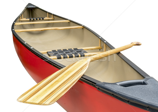 wooden paddle and canoe Stock photo © PixelsAway
