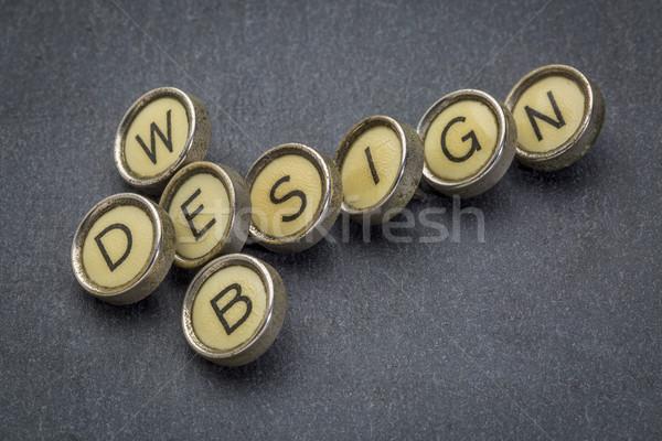 web design in typewriter keys Stock photo © PixelsAway