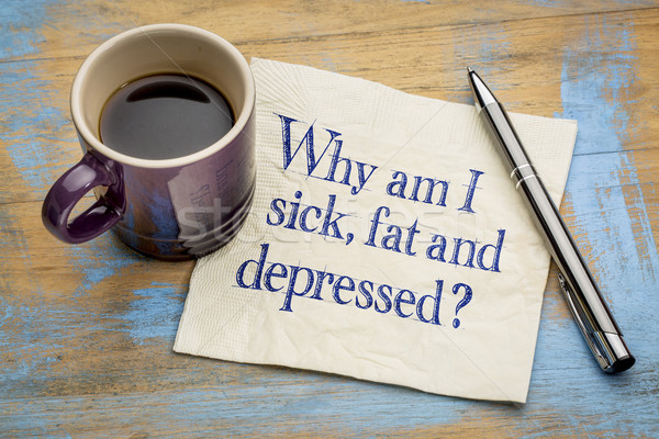 Why am I sick, fat and depressed? Stock photo © PixelsAway