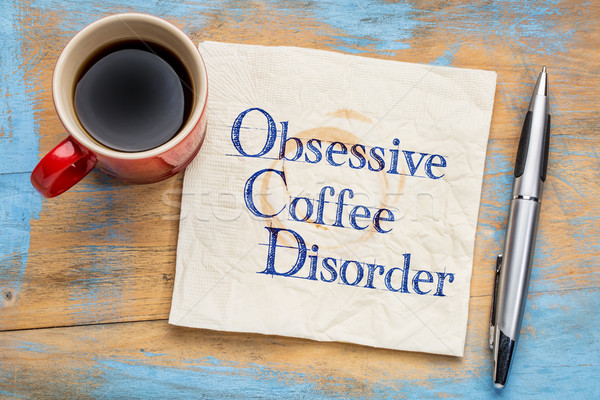 Obsessive coffee disorder Stock photo © PixelsAway