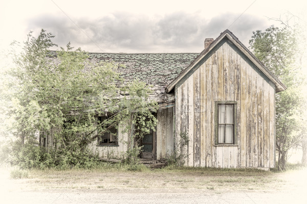 old abandoned house in a ghost town Stock photo © PixelsAway