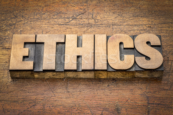 Etica parola abstract legno tipo etica Foto d'archivio © PixelsAway