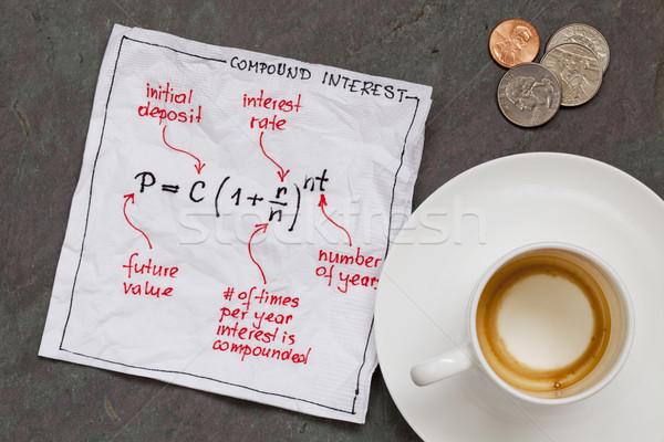 compund interest concept Stock photo © PixelsAway
