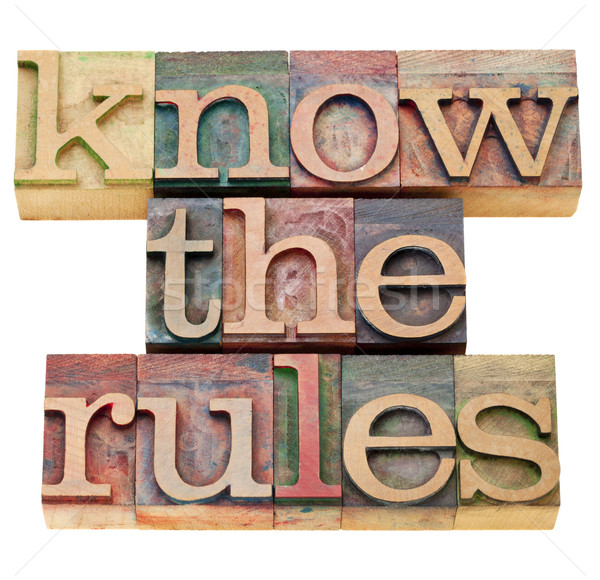 know the rules Stock photo © PixelsAway