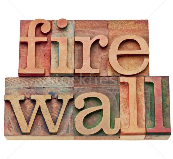 Firewall netwerk veiligheid computer internet geïsoleerd Stockfoto © PixelsAway