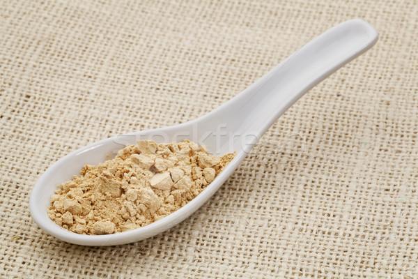 maca root powder on a ceramic spoon Stock photo © PixelsAway
