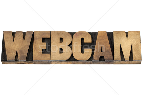 webcam word in wood type Stock photo © PixelsAway