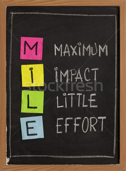 Stock photo: Maximum impact, little effort