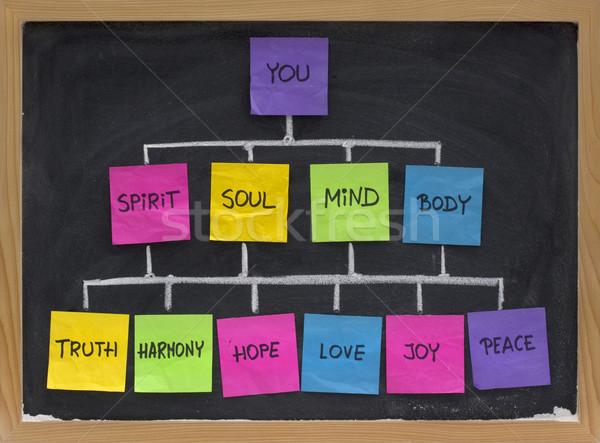 Stock fotó: Zen · hálózat · élet · egyensúly · harmónia · elme