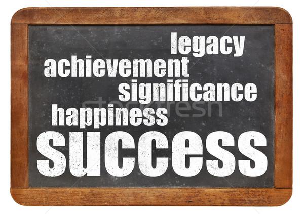 Erfolg Komponenten Glück Leistung Vermächtnis Jahrgang Stock foto © PixelsAway