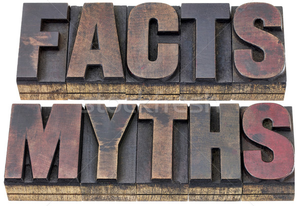 facts and myths in wood type Stock photo © PixelsAway