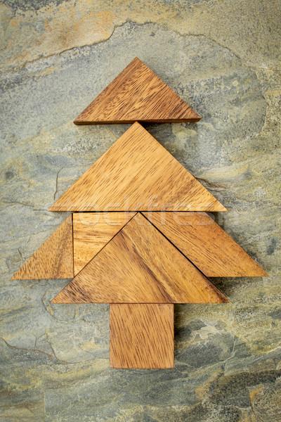 tangram Christmas tree Stock photo © PixelsAway