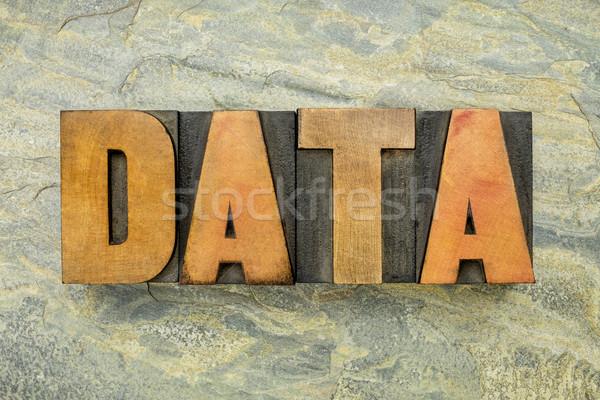 data word typography Stock photo © PixelsAway