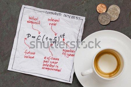 Pareto eighty twenty principle on napkin Stock photo © PixelsAway