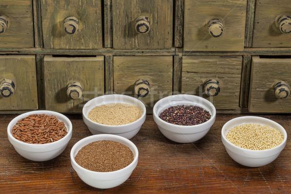 Brązowy ryżu mały ceramiczne Zdjęcia stock © PixelsAway