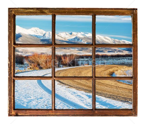 Ventoso estrada montanhas viajar ver vintage Foto stock © PixelsAway